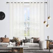 Geneva Stripe Sheer Eyelet Curtain 220cm & 250cm Drop