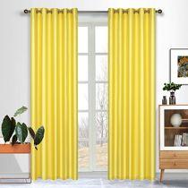 Taj Faux Silk Eyelet Curtain 138x220cm