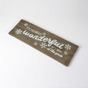 Wonderful Wooden Sign Natural