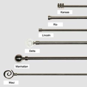 Quality Metal Curtain Rod Pole Set 22mm