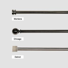 Quality Metal Extendable Curtain Rod Pole Set 28mm