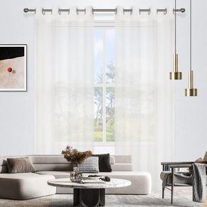 Tuscan Crystal Sheer Eyelet Curtain