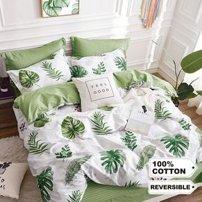 Monstera Quilt Cover Set
