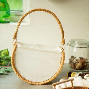 Semicircle Rattan Basket