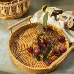 Rattan Tray Basket