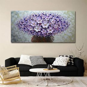 Flower Cluster Wall Painting