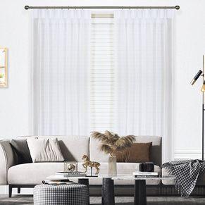 Blizzard Pinch Pleat Sheer Curtains