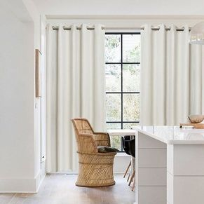 Silhouette Blockout Eyelet Curtain 165x220cm