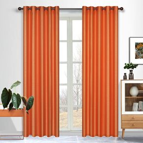 Taj Uncoated Faux Silk Eyelet Curtain 138x220cm