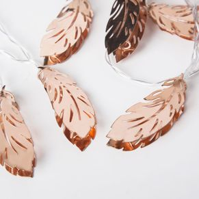 Rose Gold Leaf String Lights