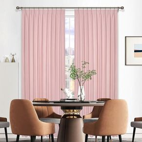 Meath Room Darkening Pinch Pleat Curtain