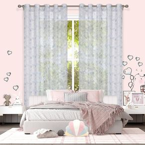 Rabbit Sheer Eyelet Curtain 220cm Drop