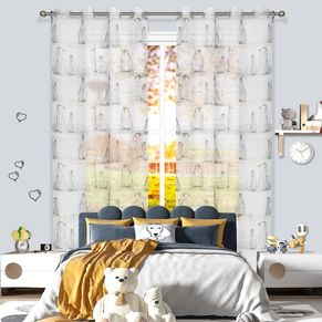 Iceland Sheer Eyelet Curtain 220cm Drop