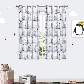 Penguin Room Darkening Eyelet Curtain 220cm Drop