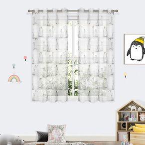 Iceland Sheer Eyelet Curtain 220cm Drop