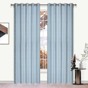Weave Blockout Eyelet Curtain 165x220cm