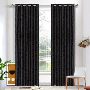 Damask Blockout Eyelet Curtain 165x220cm