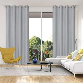 Satin Uncoated Eyelet Curtain