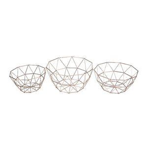 Geometric Nordic Style Storage Rusty Wire Bowl