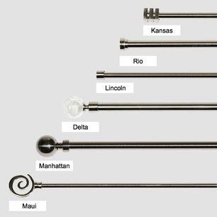 Quality Metal Extendable Curtain Rod Pole Set 22mm