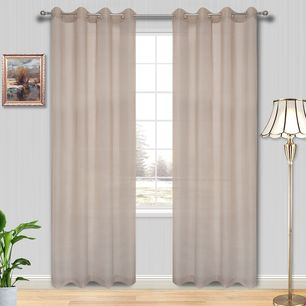 Madison Sheer Eyelet Curtain 220cm & 250cm Drop