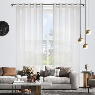 Blizzard Sheer Eyelet Curtain 220cm & 250cm Drop