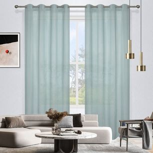Laura Sheer Stripe Eyelet Curtain 140x220cm