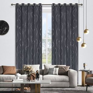 Ripple Room Darkening Eyelet Curtain