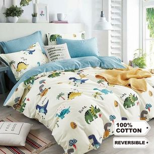 Jurassic Times Quilt Cover Set