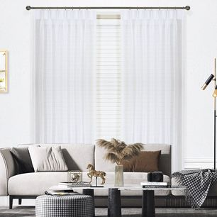 Blizzard Sheer Pinch Pleat Curtains