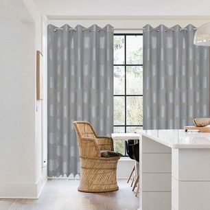Flora Blockout Eyelet Curtain 165x220cm