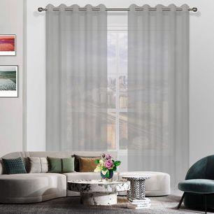 Milky Sheer Eyelet Curtain 165x220cm