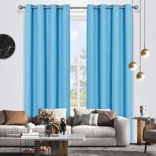 Bennett Uncoated Textured Plain Eyelet Curtain 220cm & 250cm Drop