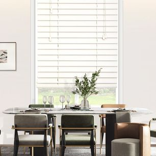 63mm Slat Smooth White Shutter Style Blinds