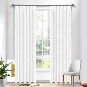 Geneva Striped Sheer Pinch Pleat Curtains