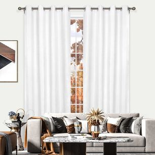 Mercury Blockout Eyelet Curtain 140x220cm
