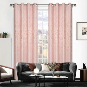 Summer Uncoated Eyelet Curtain 140x220cm