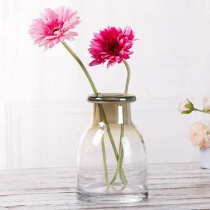 Deco Flower Vase Short Grey