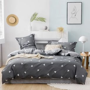 Geometric Quilt Cover Set