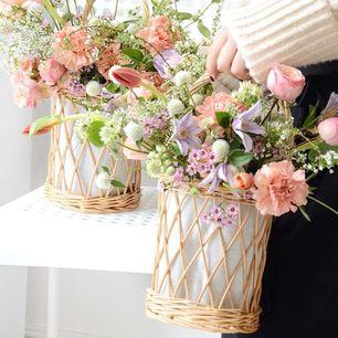 Lantern Rattan Basket With Handle