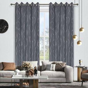 Ripple Room Darkening Eyelet Curtain