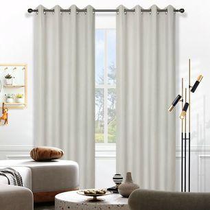 Birch Blockout Eyelet Curtain 140x220cm