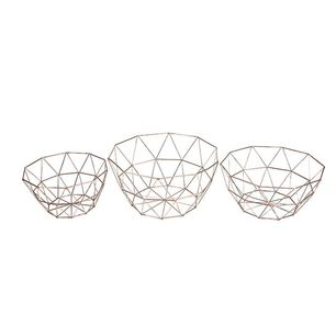Geometric Nordic Style Storage Rusty Wire Bowl