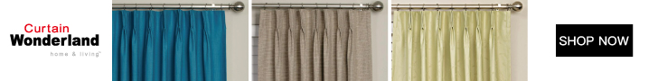 Curtain Wonderland Pinch Pleat Blockout Curtain